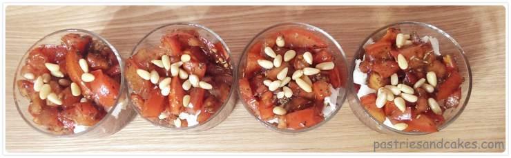 verrine tomate au chèvre