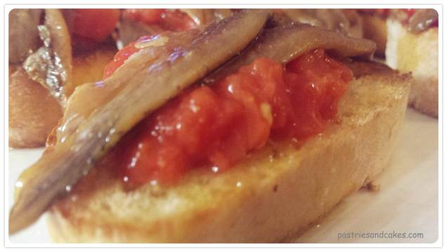 tartine d'anchois