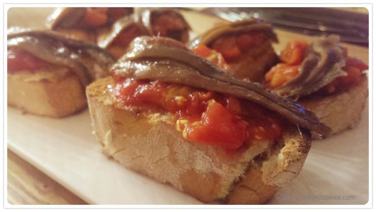 tartine d'anchois