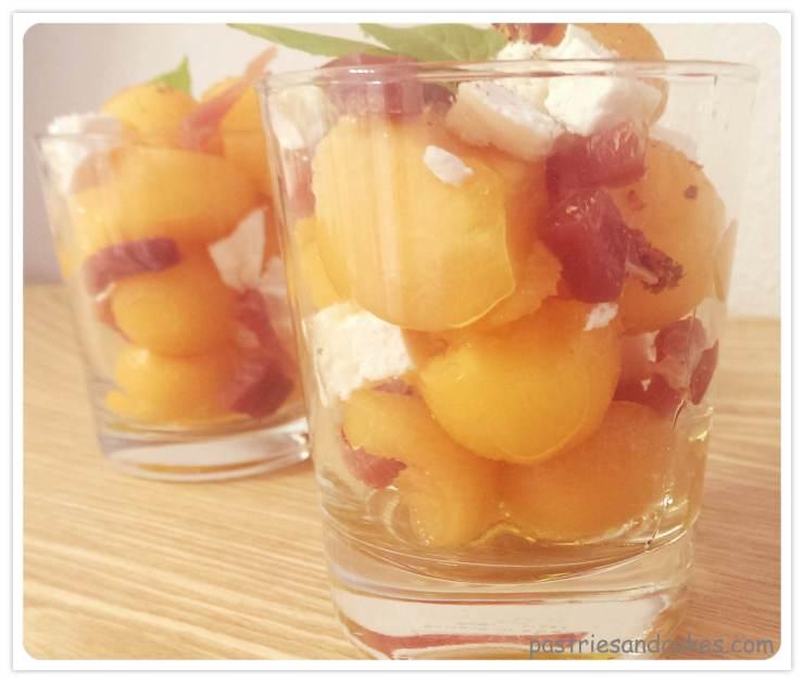 verrine melon jambon