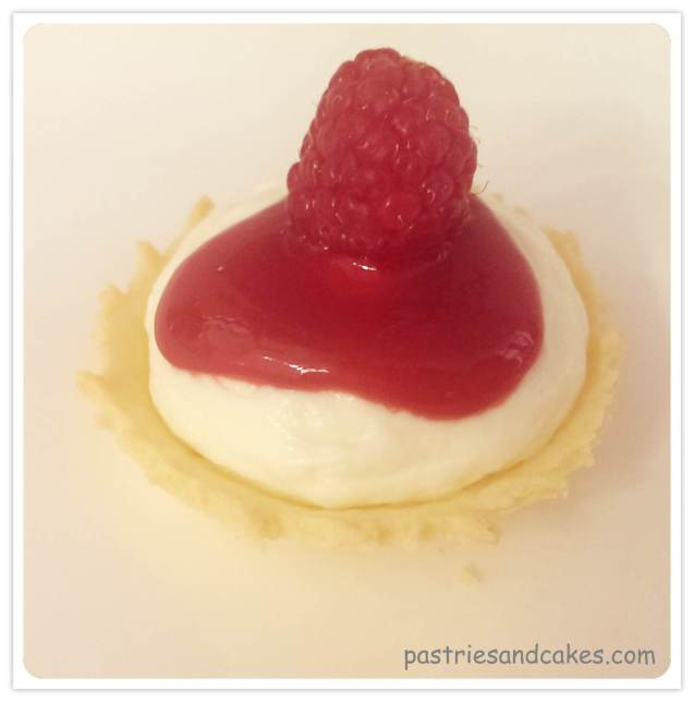 mini cheesecakes framboises