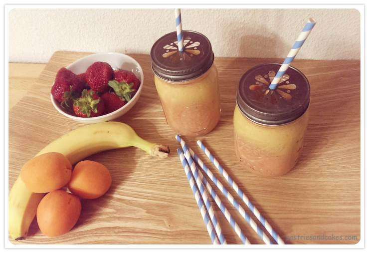 smoothie banane fraise abricot