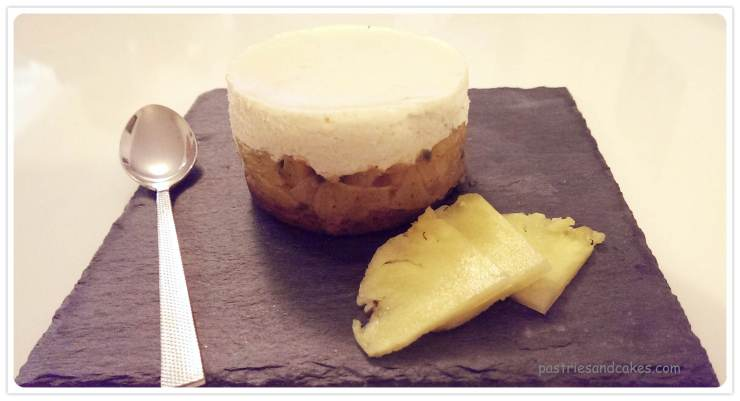 entremet ananas passion coco fève de tonka