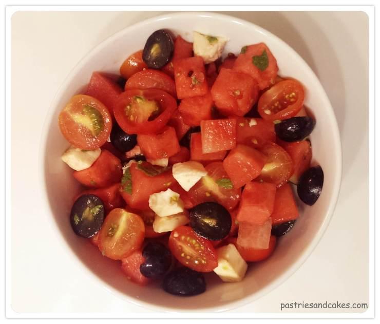 salade sucrée salée à la pathèque